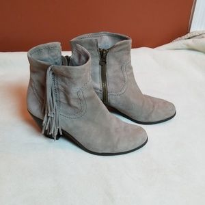 Sam Edelman fringe leather ankle boots